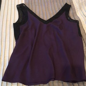 Anne Klein Plum with black sheer